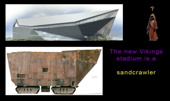 The new Vikings stadium is a sandcrawler